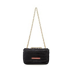 Versace Jeans - Black mock croc chain shoulder bag