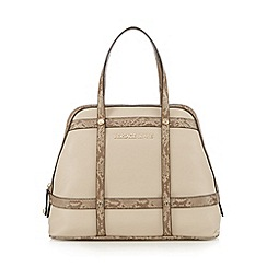 Versace Jeans - Natural snakeskin trim dome bag