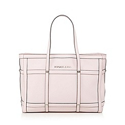 Versace Jeans - Pink grid large tote bag