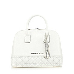 Versace Jeans - White quilted tassel dome bag