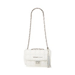 Versace Jeans - White quilted chain shoulder bag