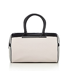 Versace Jeans - Pale pink colour block bowler bag