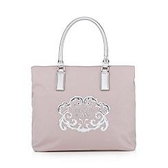 Versace Jeans - Pink metallic logo tote bag
