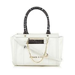 Versace Jeans - White snakeskin grab bag