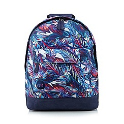 Mi-Pac - Blue feathers backpack