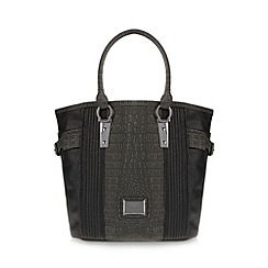 Lipsy - Black croc panel tote bag