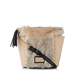Lipsy - Natural faux fur studded grab bag