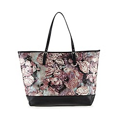 Lipsy - Black floral shopper bag