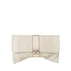 Lipsy - Cream soft fold over clutch