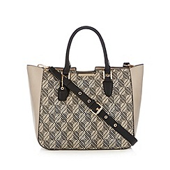 Clarks - Off white 'Magnolia Bud' checked tote bag