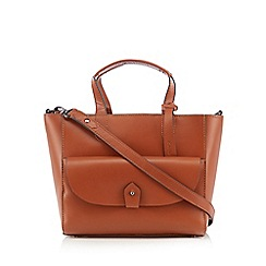 Clarks - Tan 'Tender Hook' leather grab bag