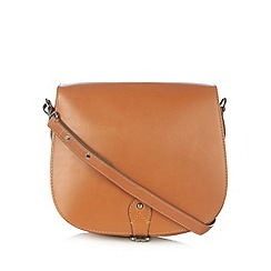 Clarks - Tan 'Tender Moment' leather cross body bag