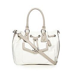 Clarks - White 'Mella Rose' duffle bag