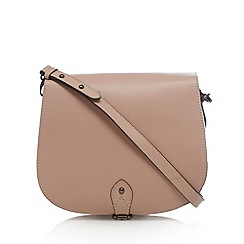 Clarks - Pale pink 'Tender Moment' suede shoulder bag