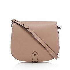 Clarks - Pale pink 'Tender Moment' suede shoulder bag