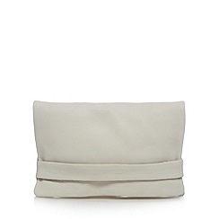 Clarks - White 'Tigley Spring' leather clutch bag