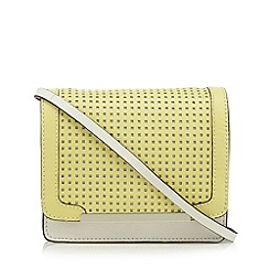 Clarks - Pale yellow 'Timely Love' leather cross body bag