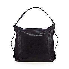 Todd Lynn/EDITION - Designer black metallic slouched shoulder bag