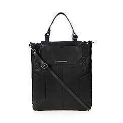 Todd Lynn/EDITION - Black leather heavy grain mix large tote bag