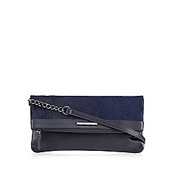 Todd Lynn/EDITION - Designer navy leather pony hair folded clutch bag