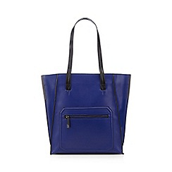 Todd Lynn/EDITION - Designer dark blue winged tote bag