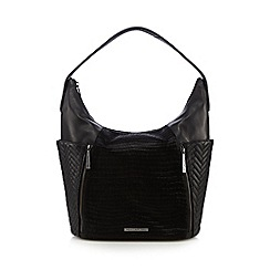 Todd Lynn/EDITION - Black leather chevron quilted pony hair shoulder bag