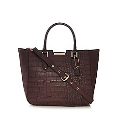 Clarks - Purple mock croc winged grab bag