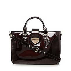 Clarks - Maroon 'Miss Chantal' shopper bag