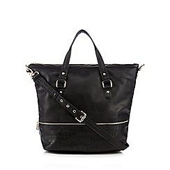 Clarks - Black 'Malmo' mock croc trim hobo bag
