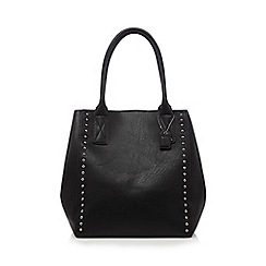 Clarks - Black studded winged grab bag