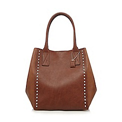 Clarks - Tan studded winged grab bag