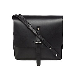 Clarks - Black leather 'Timble' satchel