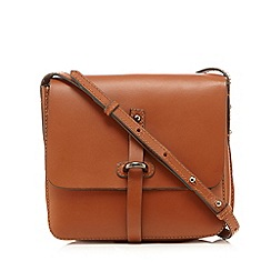 Clarks - Tan leather small satchel bag