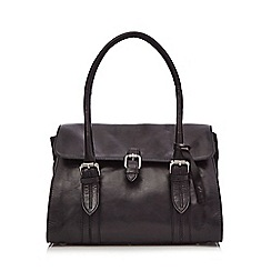 Clarks - Black leather 'Toronto lake' shoulder bag
