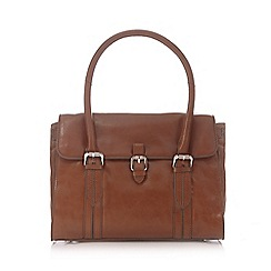 Clarks - Tan leather 'Toronto lake' shoulder bag
