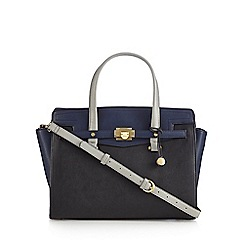 Fiorelli - Navy 'Luella' colour block grab bag