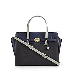 Fiorelli - Navy 'Luella' colour block grab bag