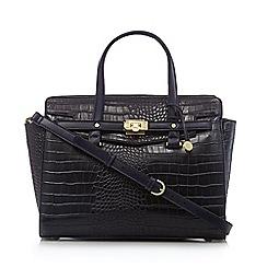 Fiorelli - Navy 'Luella' snakeskin grab bag