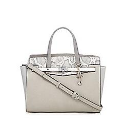 Fiorelli - Grey 'Luella' snakeskin grab bag
