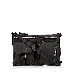 Kangol - Black double front pocket cross body bag
