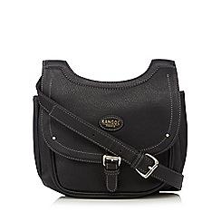 Kangol - Black fold over cross body bag