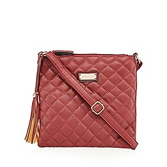 Kangol - Wine quilted cross body bag
