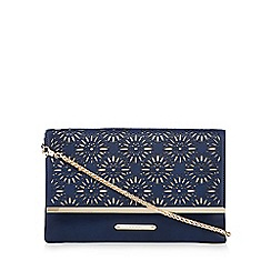 LYDC - Navy laser cut clutch bag