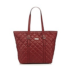 Kangol - Wine quilted buckle tote bag
