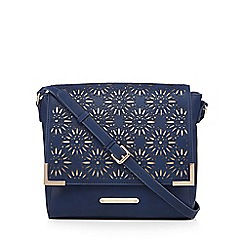 LYDC - Navy laser cut shoulder bag