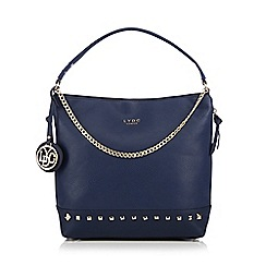 LYDC - Blue chain studded hobo bag