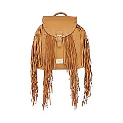 LYDC - Tan studded fringe backpack