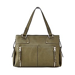 Nine by Savannah Miller - Khaki green 'Lou' shoulder bag