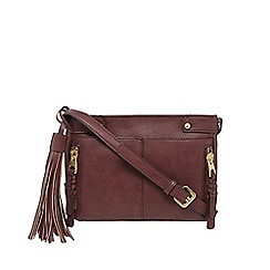 Nine by Savannah Miller - Dark red 'Lou' cross body bag