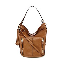 Nine by Savannah Miller - Tan 'Lou' bucket bag
